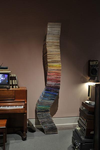 Vinyl LPs, steel plate & 1/4 rod